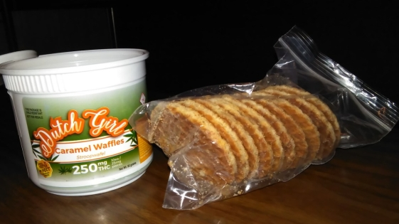 Dutch Girl Cannabis Caramel Waffles 250 mg package
