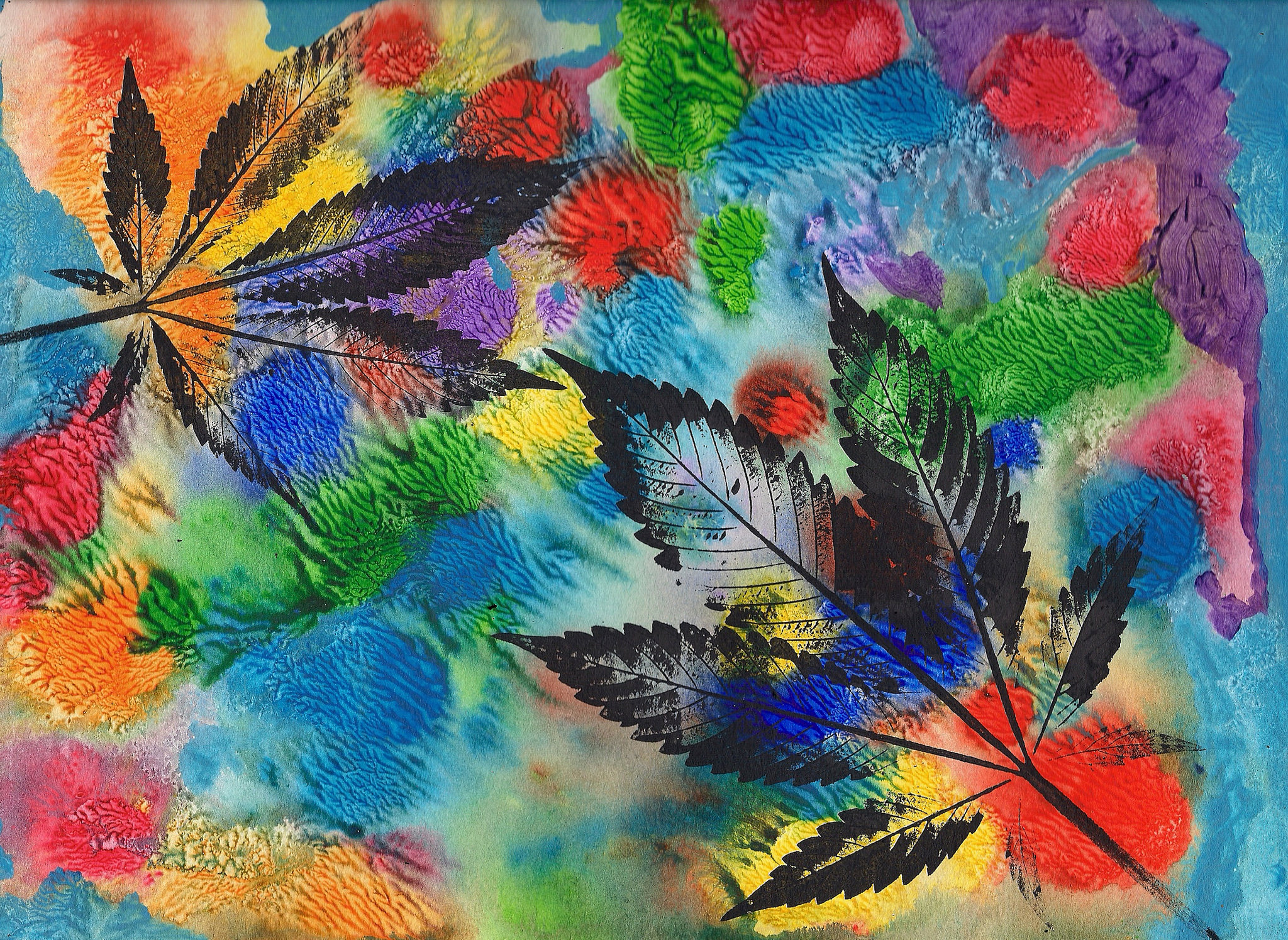 JurrasicBlueberries abstract cannabis art titled Cookies 2017