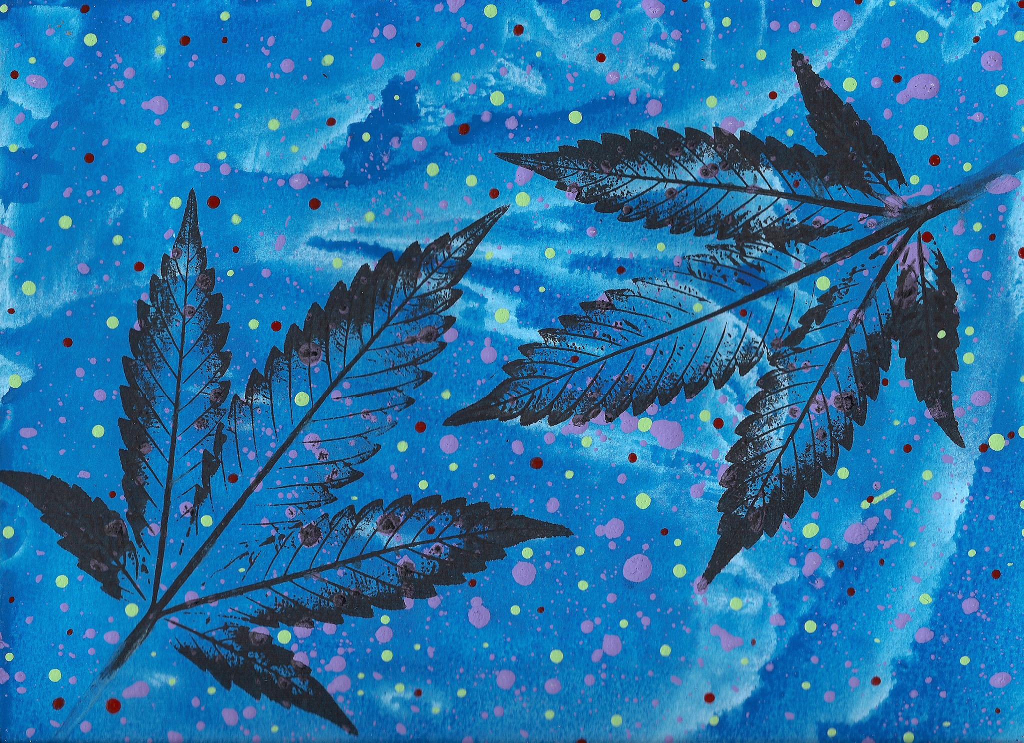 JurrasicBlueberries abstract cannabis art titled Quadrillions 2015