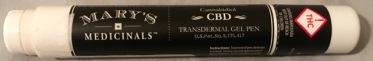 Mary's Medicinal's CBD gel pen front