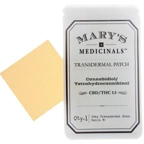 Mary's Medicinals transdermal patch CBD:THC 1:1