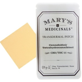 Mary's Medicinals transdermal patch CBD:THC 1:1