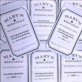 Different varieties of Mary's Medicinals transdermal patches