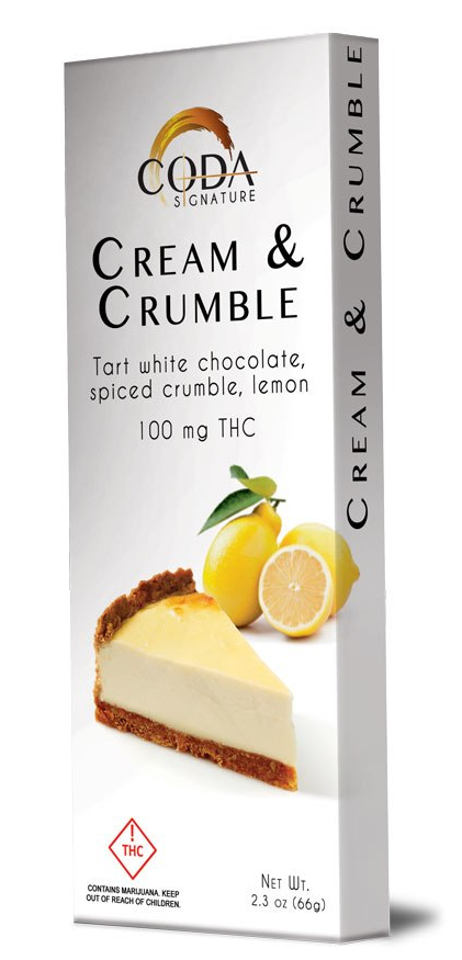 Coda Cream & Crumble Bar 100mg