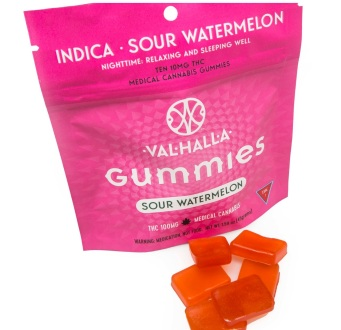 Valhalla indica Watermelon Gummies