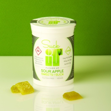 Sour Apple Flavor Suckit Candies from Canyon