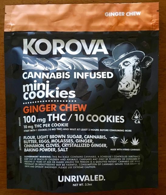 Korova Ginger Chew Mini Cookies
