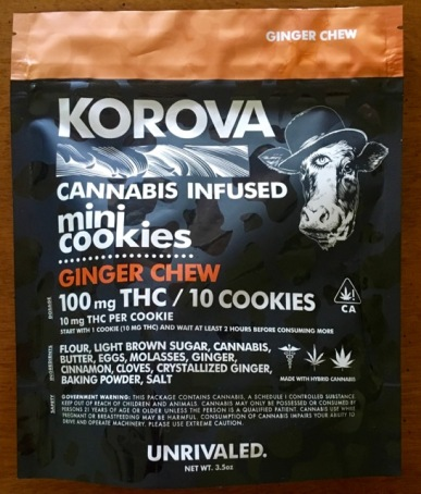 Korova Ginger Chew Mini Cookies