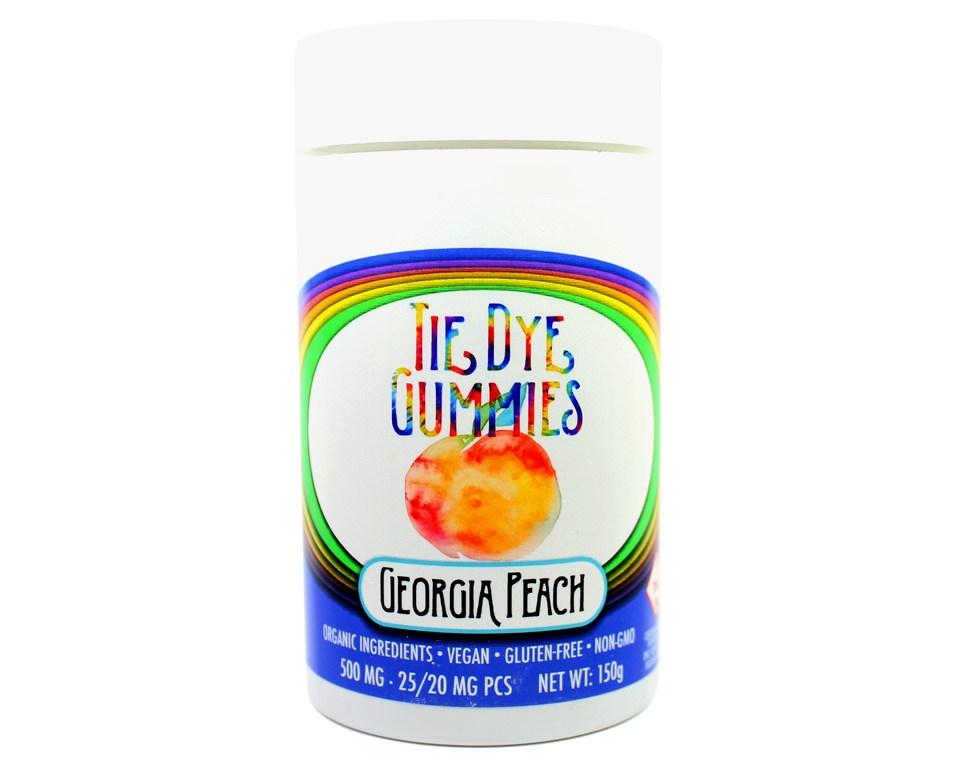 Tie Dye Gummies Georgia Peach
