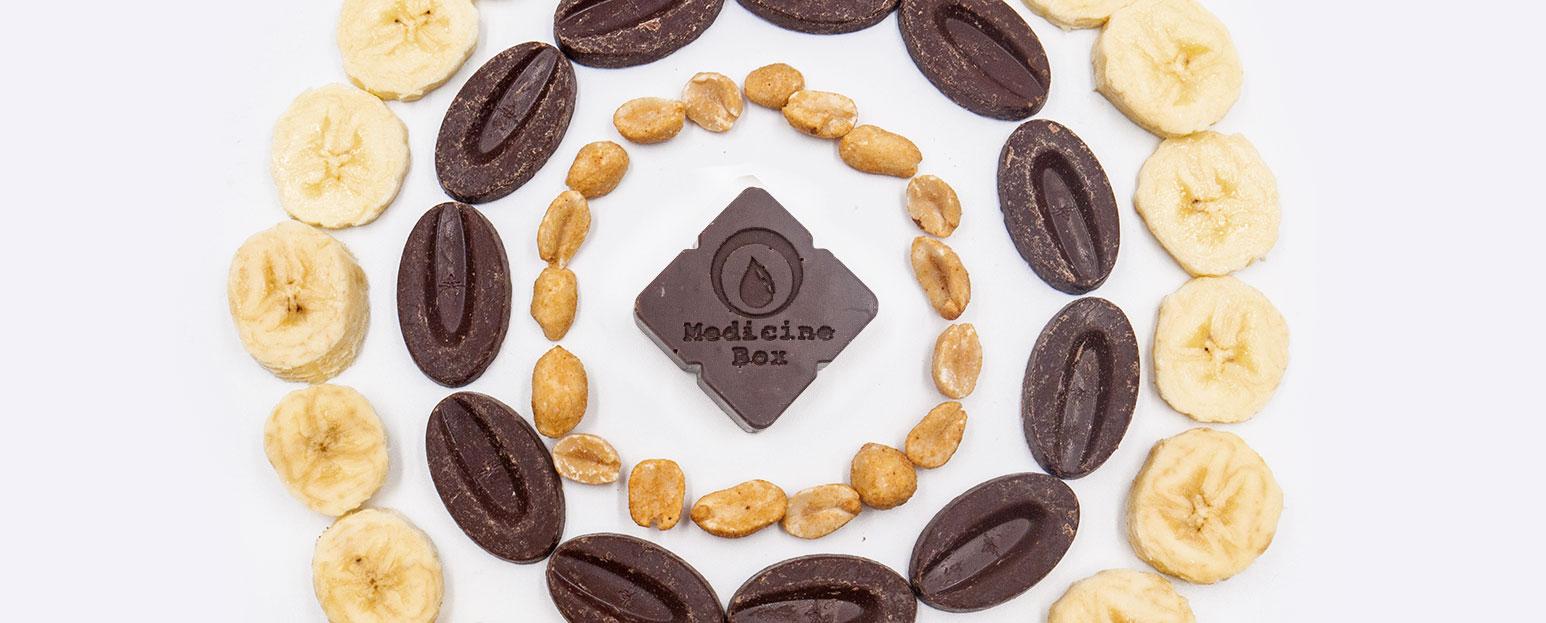 Medicine Box truffles peanut butter circle