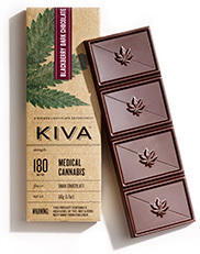 Kiva Dark Chocolate Blackberry Cannabis Infused Bars
