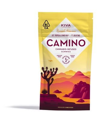 Kiva brand Camino cannabis infused Gummies Uplifting formula Pineapple Habanero flavor