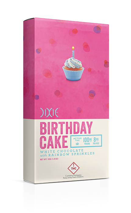 Dixie Birthday Cake White Chocolate Cannabis Infused bar