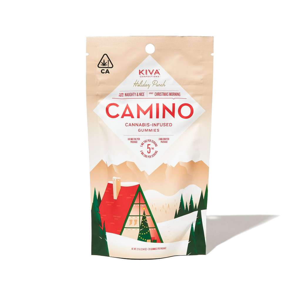 Kiva Camino Holiday Punch Cannabis-Infused Gummies