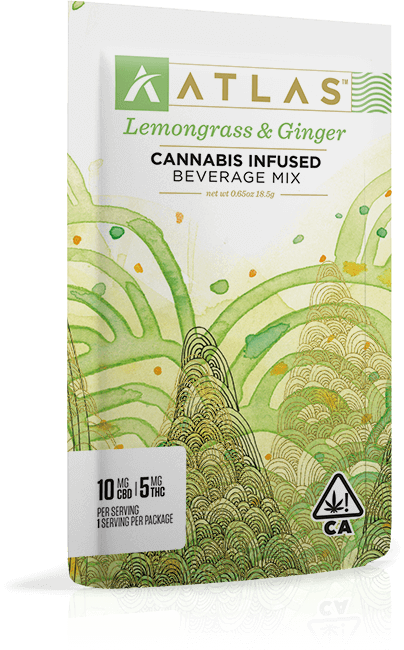 Atlas Lemongrass and Ginger Cannabis Infused beverage mix 10mg CBD 5mg THC
