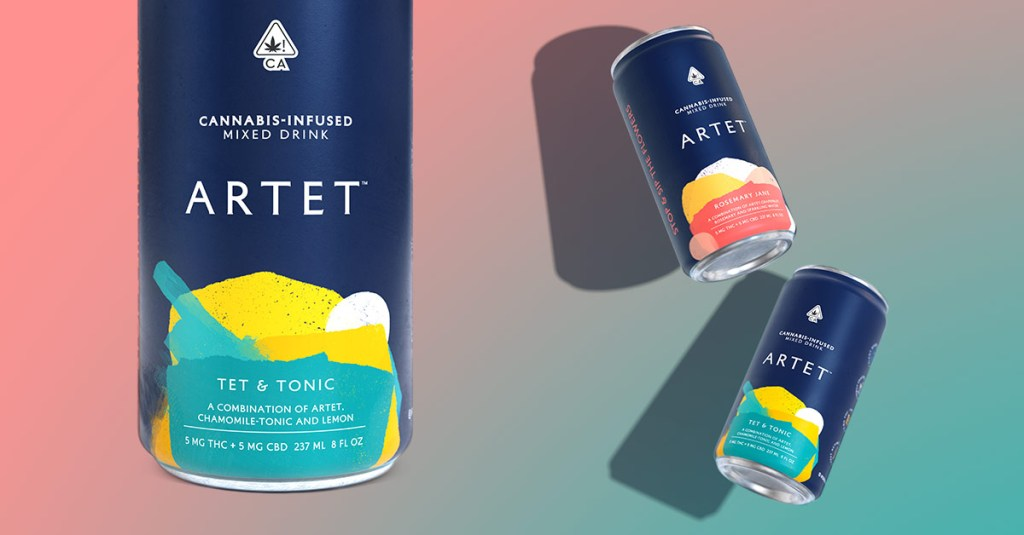 Artet Cannabis Infused Mixed Drinks Rosemary Jane and Tet & Tonic flavor eight ounce cans